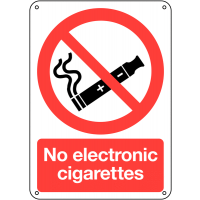 No Electronic Cigarettes' Durable Signs