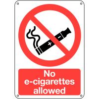 No E-Cigarettes Allowed Durable Signs