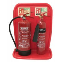 Complete Office Fire Safety Kit with Extinguishers and Stand