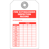 4 year inspection record tags for fire extinguishers
