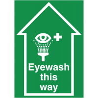 Emergency eyewash floor signs