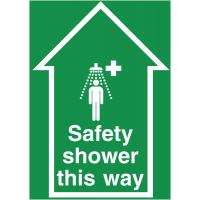 Laminated Anti-Slip Safety Shower Floor Signs