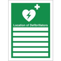 Location of Defibrillators A4 Insert Defib Update Sign