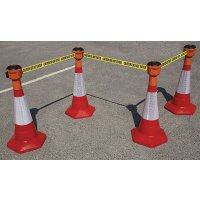 Skipper™ Retractable Barrier and Cone Kits (750mm Cones)