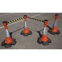 Skipper™ Retractable Barrier and Cone Kits with Extra Sturdy Skipper™ Cones