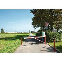 Compact reflective galvanised swing barrier