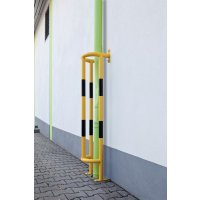 Vertical Floor or Wall Mounted Black and Yellow Pipe Protectors