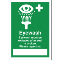 Cost-effective eyewash first aid write on signs