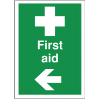 Easy to understand directional first aid signs