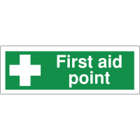 Self-adhesive 'First Aid Point' anti-slip floor markers