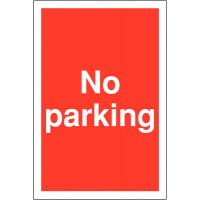 No Parking' Restricted Access Parking Signs