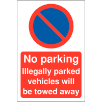 Car Park Warning Signs – Illegally Parked Vehicles Will Be Towed Away