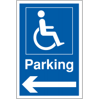 Hard-wearing, widely recognised Disabled Parking signage (left arrow)