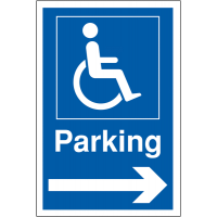 Weather Resistant Disabled Parking Signs (Arrow Right)