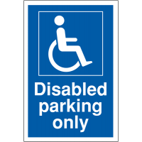 Disabled Parking Only' Sign in Weather-Resistant Materials