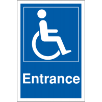 Weather Resistant Disabled Parking Entrance Signs
