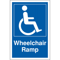 Weather-Resistant 'Wheelchair Ramp' Disabled Access Sign