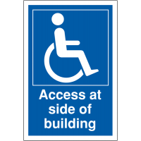 Side Access Disabled Parking Signs