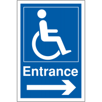 Distinctive, easily recognisable disabled parking signage
