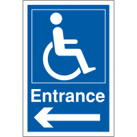Left arrow navigational aid for disabled parking