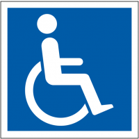 Internationally recognised disabled parking sign