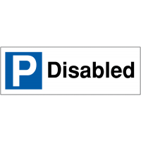 Disabled' Weather-Proof Parking Bay Sign