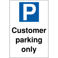Clear and effective Customer Parking Only sign