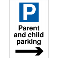 Parent And Child Parking Right Arrow Visitor Parking Signs