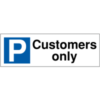 Parking Bay Signs for Customers Only