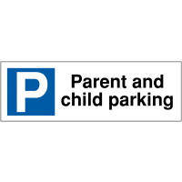 Parent and Child Parking Bay Signs