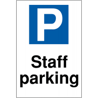 Durable reserved parking signs for staff parking