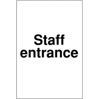 Clear and simple Reserved Parking Sign- Staff Entrance