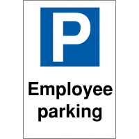 Reserved 'Employee Parking' Sign with Large Parking Symbol