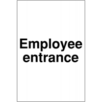 Weather-Resistant 'Employee Entrance' Car Parking Sign