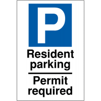 Weather-Resistant 'Resident Parking – Permit Required' Sign