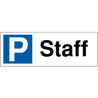 Durable Staff Parking Bay Signs