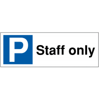 Weatherproof Parking Bay Signs - Staff Only
