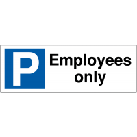 Parking Bay Signs for Employees Only