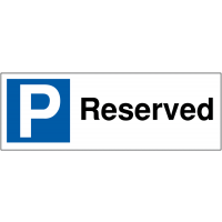 Weather-Resistant Parking Bay Signs - Reserved