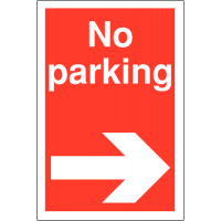 Weather-Resistant 'No Parking' Sign with Right Arrow