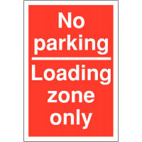 Vibrant and eye-catching Restricted Access Parking Signs-No Parking/Loading Zone