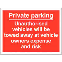 Weather-Resistant 'No Parking Sign' with Comprehensive Towing Policy Information