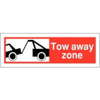 Weather-Resistant Tow Away Zone Sign