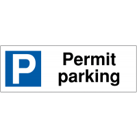 Parking Bay Signs - Permit Parking