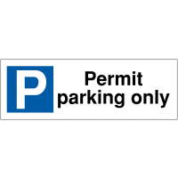 Long-Lasting Parking Bay Signs - Permit Parking Only
