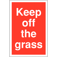 Plastic Car Park Security Signs – Keep off the Grass