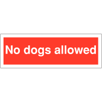 Plastic Car Park Security Signs – No Dogs Allowed