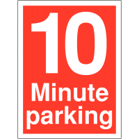10 minute parking signs for time-restricted car parks