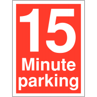 15 minute time limit parking signs for car parks