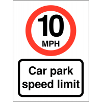 Weather Resistant 10 MPH Speed Control Signs To Promote Car Park Speed Awareness